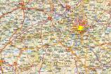 Mappa dei dintorni di Madrid