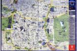 Mappa del centro di Madrid, distribuita dall'ufficio del turismo di Madrid