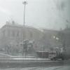 Madrid oggi si è svegliata sotto una fitta nevicata
