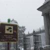 Il Parco del Retiro a Madrid sotto la neve