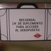 Supplemento biglietto Metro Madrid da e per Aeroporto di Barajas