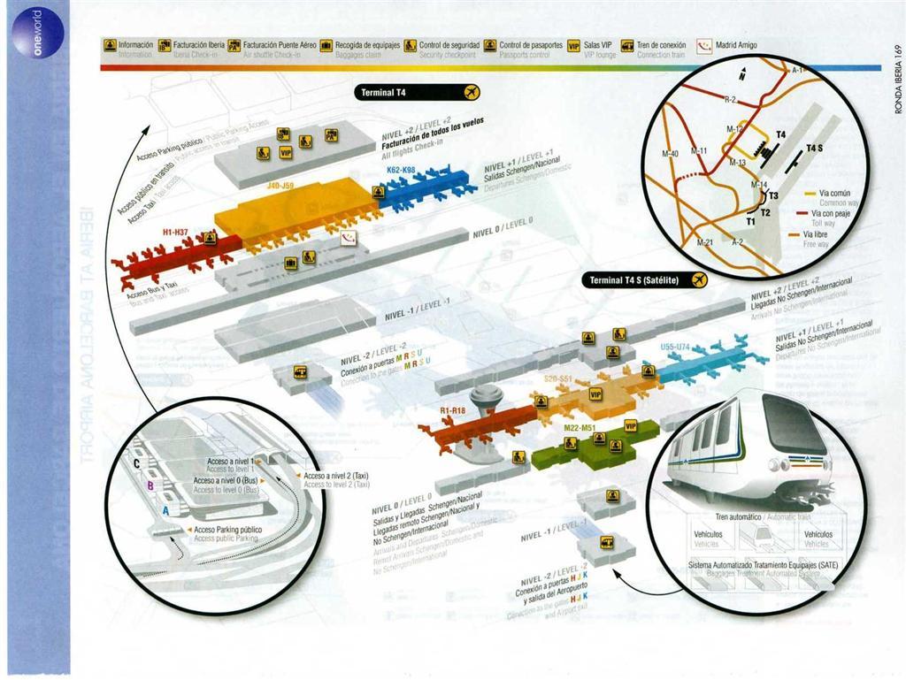 Mappa dell'aeroporto di madrid barajas di iberia – terminal 4 e