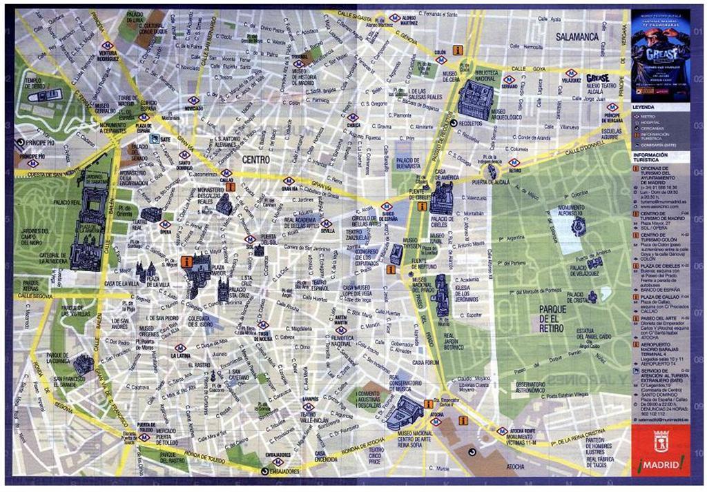Mappe Guida Di Madrid