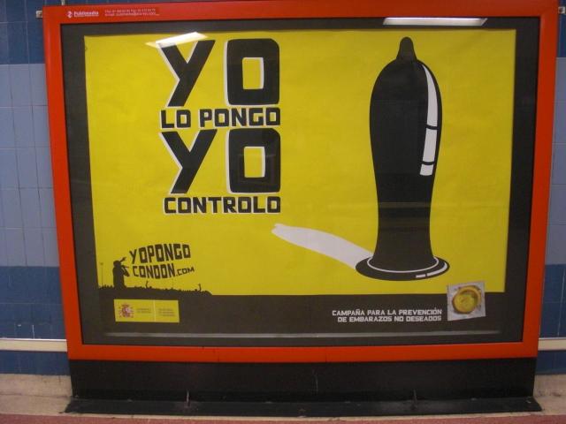 Campagna condom Madrid