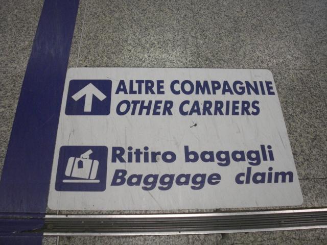 Ritiro Bagagli Aeroporto Roma Fiumicino altre compagnie non Alitalia