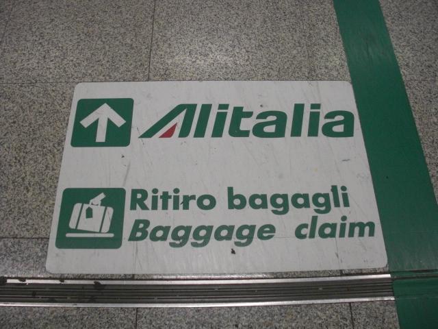 Ritiro Bagagli Alitalia a Roma Fiumicino