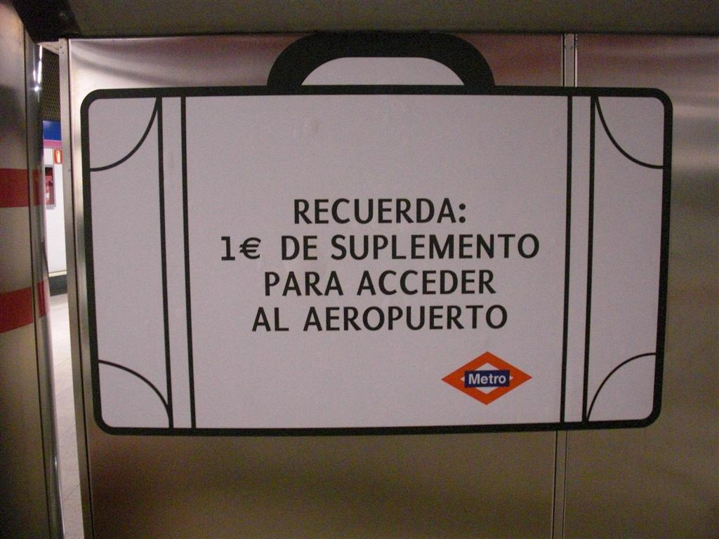 Supplemento metro aeroporto Madrid