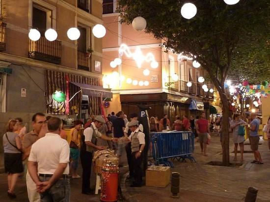 La famosa zona di Madrid dove si trova il ristorante