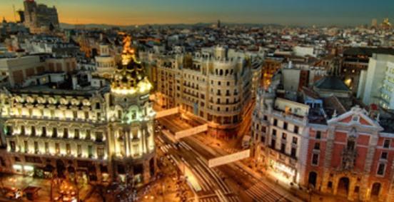 Madrid al tramonto